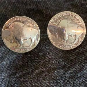 BUFFALO NICKEL Cuff Links, Vintage